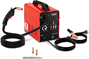 Elektro Schwei/ßmaschine MIG-130 Schwei/ßger/ät,Tragbar Schwei/ßger/ät 0,8-0,9 mm F/ülldraht 120 Ampere 230V