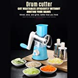 Multifunctional Vegetable Grater Rotary Cheese Grater Vegetable Slicer 3 Interchangeable Blades Easy Clean Rotary Grater Slic