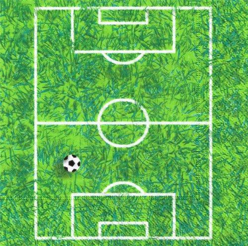 20 Servietten Soccer Field - Fußball Spielfeld / Fußballfeld / Rasen / WM 2014 33x33cm