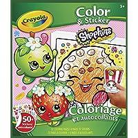 Shopkins - Libro para Colorear con Pegatinas (Crayola 04-5854)