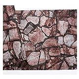 Retro Vintage Stone Stone Culture Wallpaper Pietra Ristorante Bar Cafe Brick Wallpaper (Color : Old-style red)
