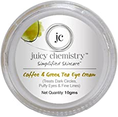 Juicy Chemistry Organic Coffee and Green Tea Eye Cream (10g)