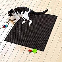 Floori® Sisal Kratzteppich | Naturfaser: nachhaltig und umweltfreundlich | Schwarz, 50x50cm