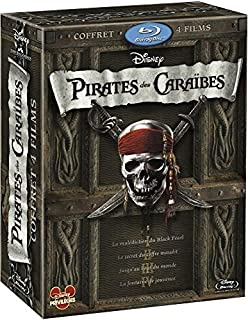Pirates des Caraibes Tetralogie (La Malediction du Black Pearl/Le Secret du Coffre maudit/Jusqu'au bout du monde/La fontaine de jouvence/1 disque bonus La fontaine de jouvence) [Blu-ray] (B00566CCKE) | Amazon price tracker / tracking, Amazon price history charts, Amazon price watches, Amazon price drop alerts