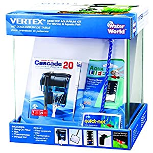Vertex Water-World Desktop Aquarium Kit – 10 Liter Tank – Perfect for Shrimp & Small Fish