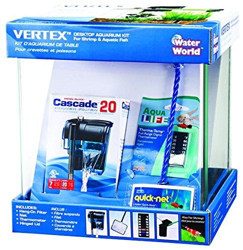 Vertex Water-World Desktop Aquarium Kit – 10 Liter Tank – Perfect for Shrimp & Small Fish
