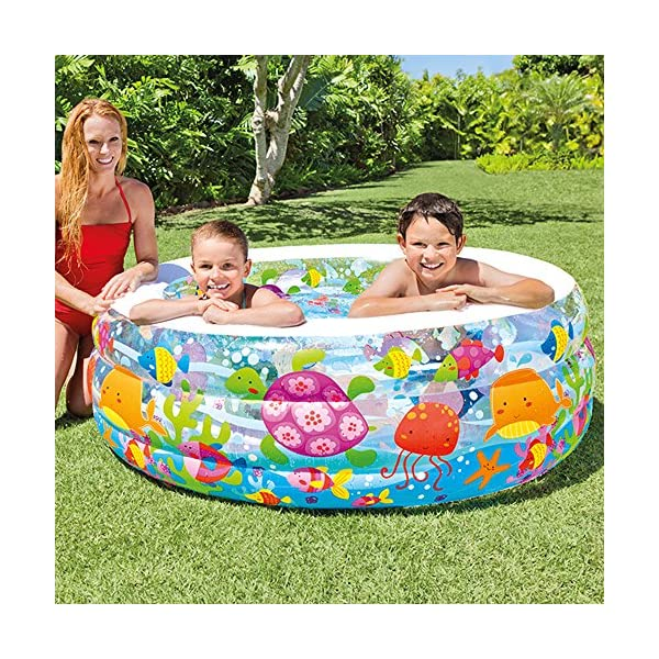 Intex Piscina Acquario Parasole, Multicolore, 157x157x122 cm, 57470 2 spesavip