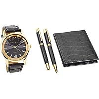 Ensemble cadeau pour homme Pierre Cardin avec montre portefeuille et deux stylos