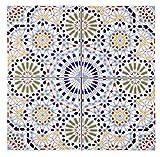 Marocchino Piastrelle backsplash Zaha con modelli arabi 1m² | Piastrelle per pareti a mosaico dal Marocco | per cucina, bagno, servizi igienici, bagno ospiti