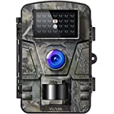 Victure IP66 Wildlife Trail Camera 16MP 1080P HD Infrared Cam with Night Vision and 2.4'' LCD Display for Outdoor and Home Security Surveillance