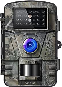 """Victure Wildlife Camera 16MP 1080P Trail Game Camera Motion Activated Infrared Night Vision with 2.4"""" LCD Display IP66 Waterproof Design for Outdoor and Home Security"""