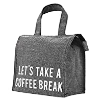 PuTwo Lunch Bag Thermal Insulated Lunch Box Tote Cooler Zipper Bag Bento Lunch Pouch - Tweed Grey