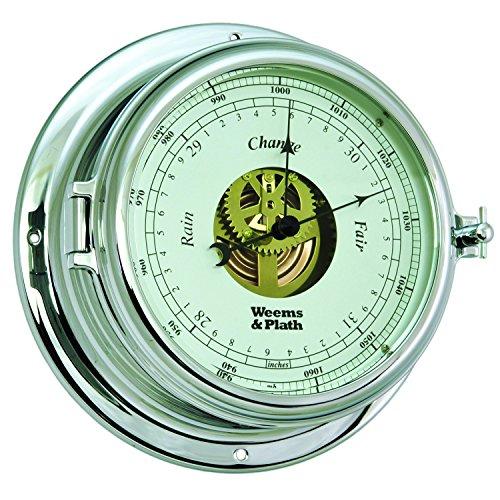 Weems y Plath Endurance II 135abierto Dial barómetro - 960733, Cromado