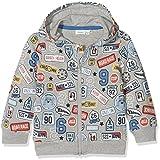 NAME IT Baby-Jungen Sweatshirt NMMERLAND SWE Card W Hood UNB, Mehrfarbig (Grey Melange), 92