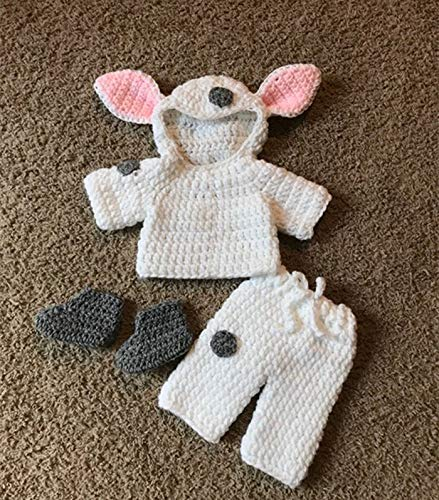 Provide The Best Cartoon-Entwurf Neugeborenes Baby gestricktes Kostüm Kleinkind-Kind-Kleidung Hose Socken Set Shooting Foto Outfit
