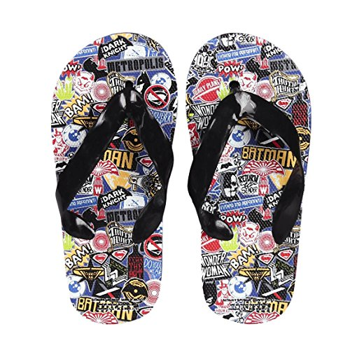 Takestop® Chanclas Batman vs Superman Superhéroe Número 26 Flip Flop kinds niño niña sandalias chanclas playa Diseño de playa
