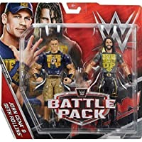 WWE Battle Pack Serie 43.5 Action Figure - Seth Rollins 'Never Spegne Up' Camicia & John Cena 'Never Dà Up' maglietta - Nuovo In Scatola