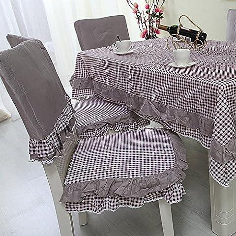 Serie dello stile scozzese sedia pad da pranzo sedia pad sedile pacchetto copertura sedile amore plaid , purple , 1 cushion + back