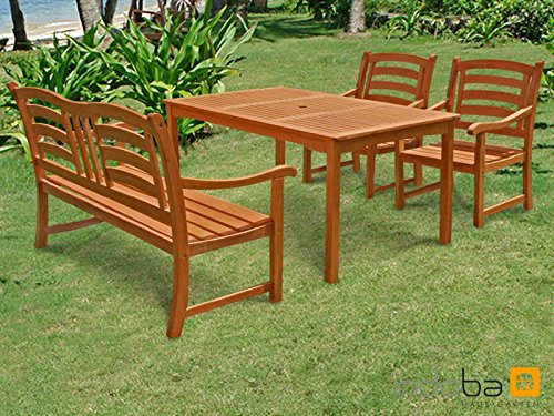Indoba Gartenmöbel Set 4-teilig Montana Gartenset Holz Garnitur