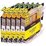AfiD 5er Set Druckerpatronen zu Brother LC-223 Yellow für DCP-J 4120 DW DCP-J 562 DW MFC-J 1100 Series MFC-J 1140 W MFC-J 1150 DW MFC-J 1170 DW MFC-J 1180 DWT MFC-J 4420 DW MFC-J 4425 DW