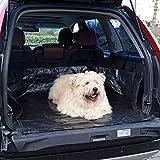 MR Goods Kofferraum Schutz für ein immer sauberes Auto – die abwaschbare, wasserfeste Hundedecke – Kofferraummatte mit Ladekantenschutz als Schondecke für Hunde Gartengeräte oder Pflanzen (100x113x44)