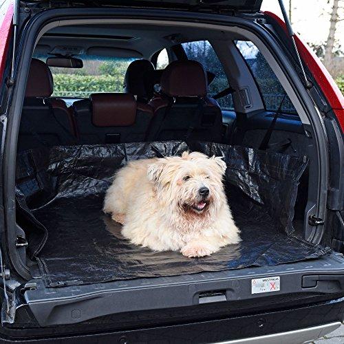 MR Goods Kofferraum Schutz für ein immer sauberes Auto - die abwaschbare, wasserfeste Hundedecke - Kofferraummatte mit Ladekantenschutz als Schondecke für Hunde Gartengeräte oder Pflanzen (100x113x44)