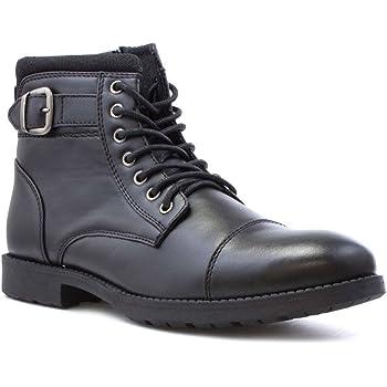 6c0964ee490b Beckett Mens Black Zip Up Ankle Boot - Size 12 UK - Black  Amazon.co ...