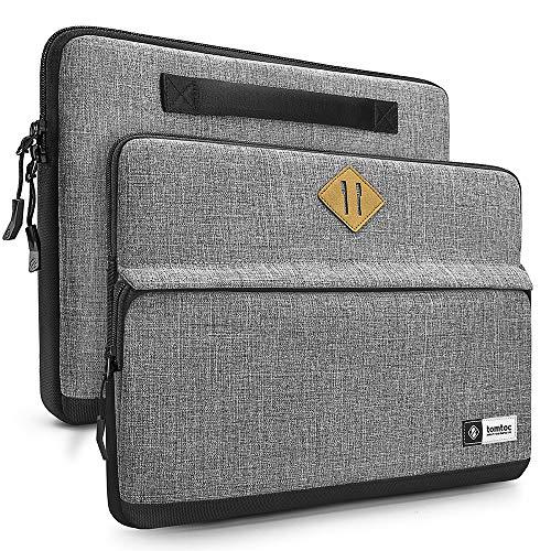 tomtoc 13-13.5 pollici Custodia Borsa per Laptop 13.3' Old MacBook Air A1466 A1369, 13' MacBook Pro Retina A1502 A1425, 12,9' iPad Pro, 13.5' Surface Laptop, Griggio