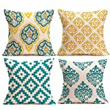 4PC Kissenbezug Kopfkissen Sofa Lendenkissen Home Decor Cushion Cover Pillow Cover 45cm x 45cm LuckyGirls (C)