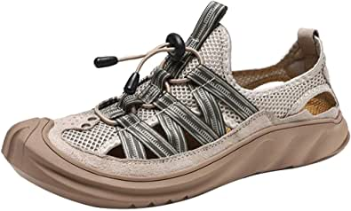 GBZLFH Scarpe da Corsa estive da Uomo, Scarpe da Spiaggia con Foro in Rete, Sneakers Alte con Fondo Morbido Traspirante e Adatto per Lo Sport per Il Tempo Libero