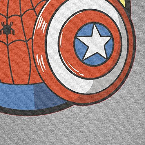 TEXLAB - Spider Boy - Herren Langarm T-Shirt Grau Meliert