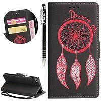 Huawei P8 Hülle, Huawei P8 Hülle Ledertasche Brieftasche im BookStyle, SainCat PU Leder Wallet Case Folio Prägung... preisvergleich bei billige-tabletten.eu