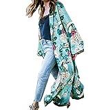 Overdose Bohemia Floral Borla Larga Largo Kimono Verano OtoñO Chal De Gran TamañO Tops Blusa Superior