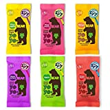 BEAR Pure Fruit Rolls and Shapes Selections (Yoyo, Pack of 18)