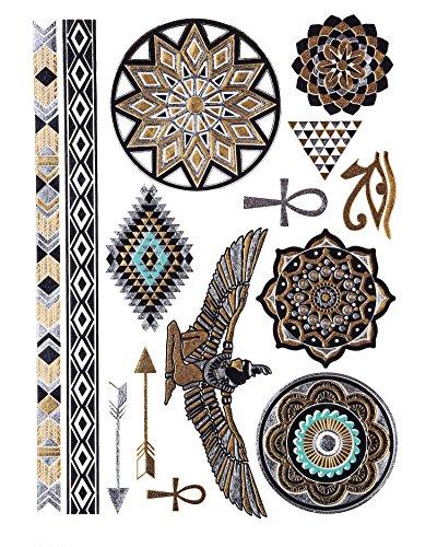 ORO Tatuaggio, Flash Tattoos, Tatuaggi Della Pelle, Egiziano Ornamenti, pelle Gioielli, Accessori alla moda,