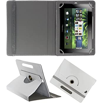 ACM Rotating 360° Leather Flip Case for BlackBerry Playbook 4g Tablet Cover Stand White