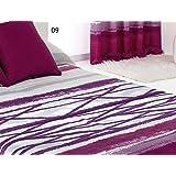 Colcha edredón Azibar cama de 150 color Morado