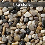TiedRibbons® Glass vase filler stones | stones decorative | pebbles and stones | decorative stones for table | pebbles in the water(1 KG,Brownish)