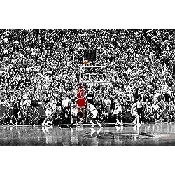Póster Michael Jordan Last Shot 1998 Colorized/Último Tiro col (91,5cm x 61cm) + embalaje para regalo