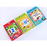 BabyGo Teach Kids Alphabets Numbers/Counting and Preschool Educational Learning Flash Cards with Pen and Eraser (Set of…
