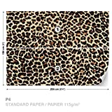 FORWALL DekoShop Fototapete Tapete Leopard Muster AD190P4 (254cm x 184cm) Photo Wallpaper Mural
