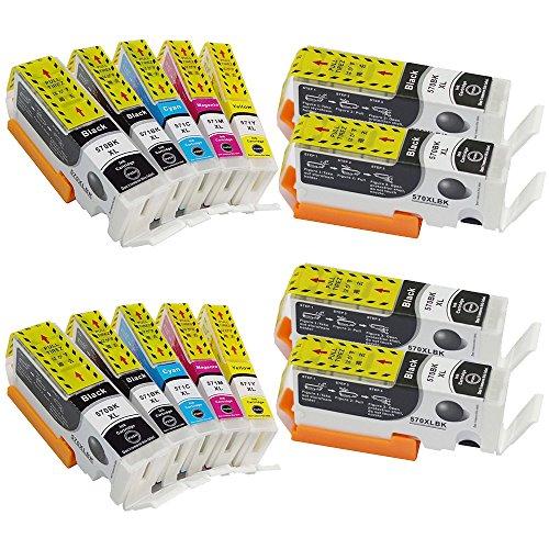14 piezas cartucho de tinta PGI-570 XL CLI-571 XL compatible para Canon PIXMA MG5750 TS5050 MG5751 MG5752 MG5753 MG6850 MG6851 MG6852 MG6853 TS5051 TS5053 TS5055 TS6050 TS6051 TS6052
