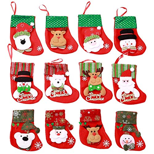 Mini calcetines navideños