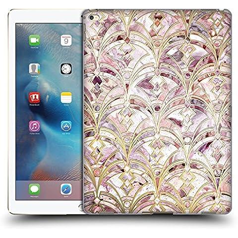 Ufficiale Micklyn Le Feuvre Rosa E Corallo Art Deco Marmo Pattern Marmo Cover Retro Rigida per Apple iPad Pro 12.9
