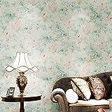 XiYunHan 3D Wallpaper Tinte große Blumen American Frisch pastoralen Tapeten hellgrün Vliestapete Wohnzimmer Schlafzimmer Hintergrund Wand Kaufen Sie Drei Get One Free (Color : Green)