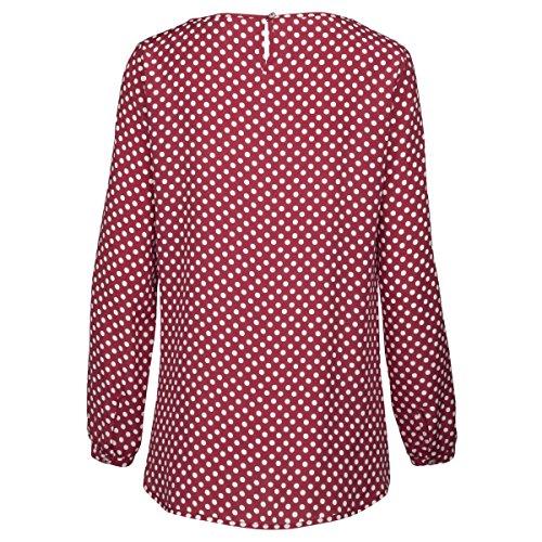 Seidensticker Damen Bluse Mehrfarbig (Bordeaux 46)