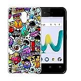 HHUAN Wiko Sunny 3 Mini Hülle Case, Cartoon Tier Transparent Clear Premium-TPU Dünn Handyhülle Cover Tasche Schale Bumper Silikon Schutzhülle für Wiko Sunny 3 Mini (4.0