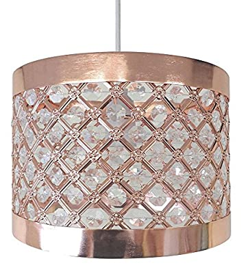 Moda Sparkly Ceiling Pendant Light Shade Fitting, Plastic/Metal, Copper from Country Club