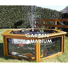 Raised hexagonal jardín estanque de peces con ventana de visualización (700litros)