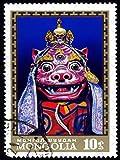 Wee Blue Coo Prints 12 X 16 INCH/30 X 40 CMS MONGOLIA POSTAGE STAMP VINTAGE BUDDHIST DRAGON TIBET FINE ART PRINT POSTER Mongolei Porto Briefmarke Jahrgang Drachen Kunstdruck